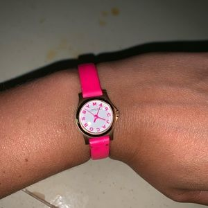 Marc Jacobs Hot Pink Mini Watch